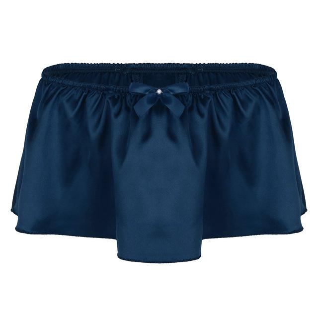 """Sissy Rose"" Skirted Panties Sissy Panty Shop Navy Blue M"