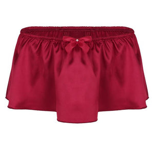"""Sissy Rose"" Skirted Panties Sissy Panty Shop Wine Red M"