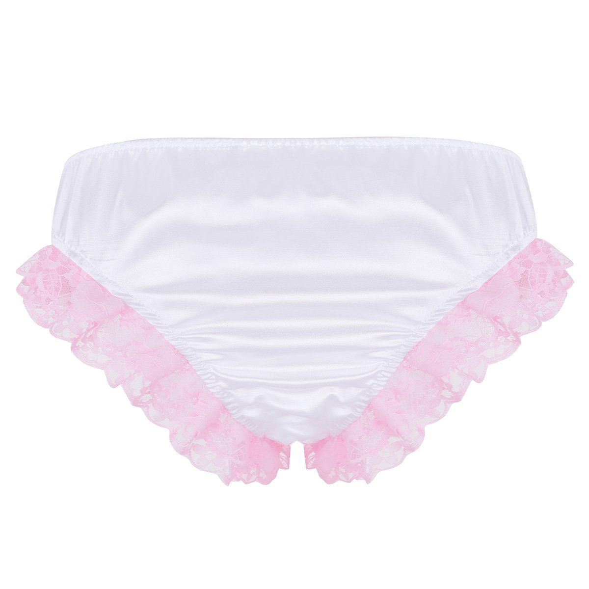 Shiny Ruffles Floral Lace with Bowknots Briefs Sissy Panty Shop