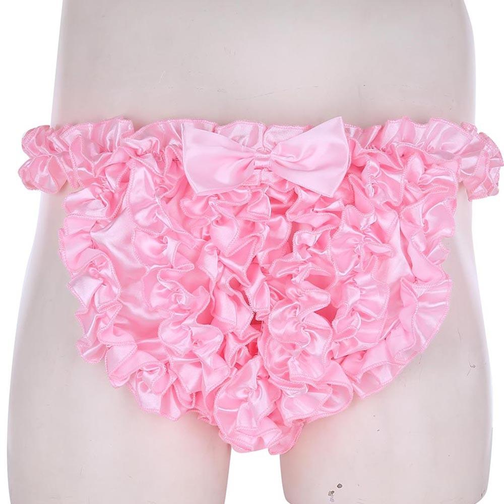 Super Frilly Satin Ruffle Panties Sissy Panty Shop