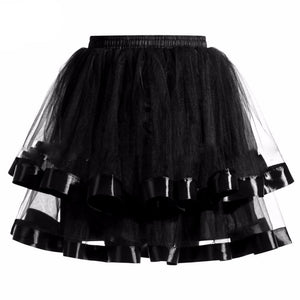 Two-Layered Short Petticoat Sissy Panty Shop Black