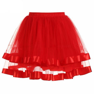 Two-Layered Short Petticoat Sissy Panty Shop red