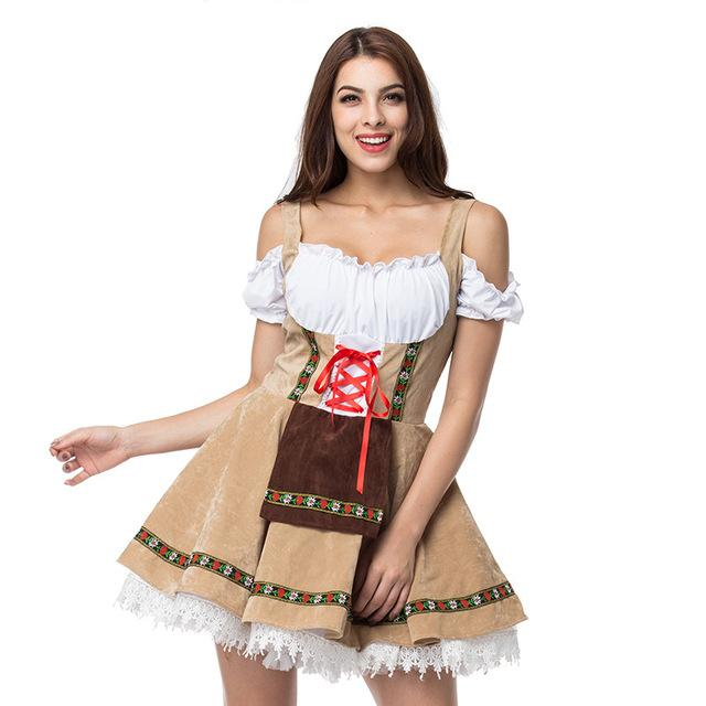 Oktoberfest Beer Girl Maid Costume Sissy Panty Shop