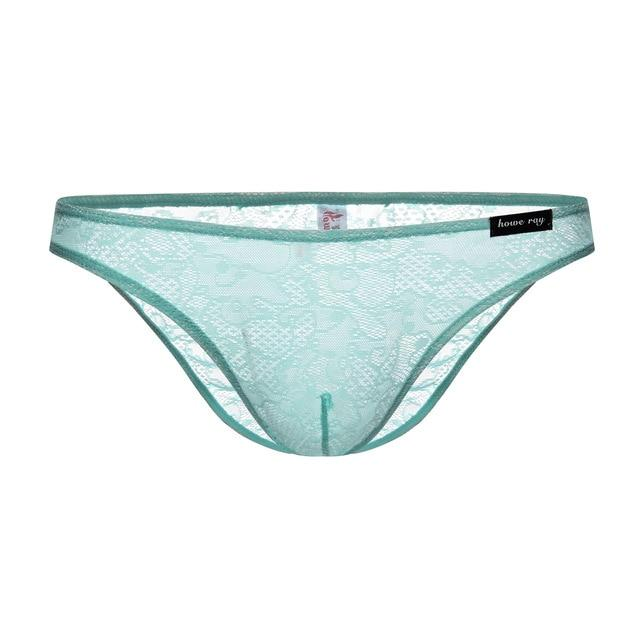 """Tranny Emery"" Lace Briefs Sissy Panty Shop green XL"