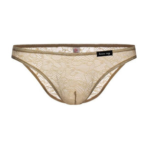 """Tranny Emery"" Lace Briefs Sissy Panty Shop beige XL"