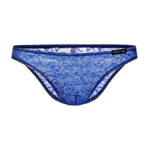 """Tranny Emery"" Lace Briefs Sissy Panty Shop blue XL"