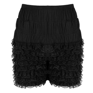 Frilly Layered Bloomers Sissy Panty Shop Black M