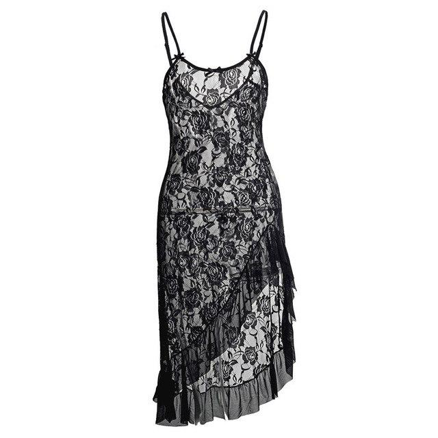 Long Floral Lace Nightgown