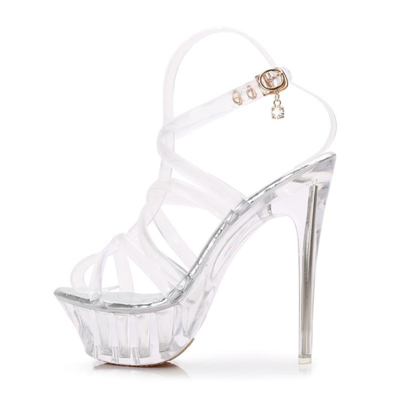 Transparent Open Toe Tranny Sandals