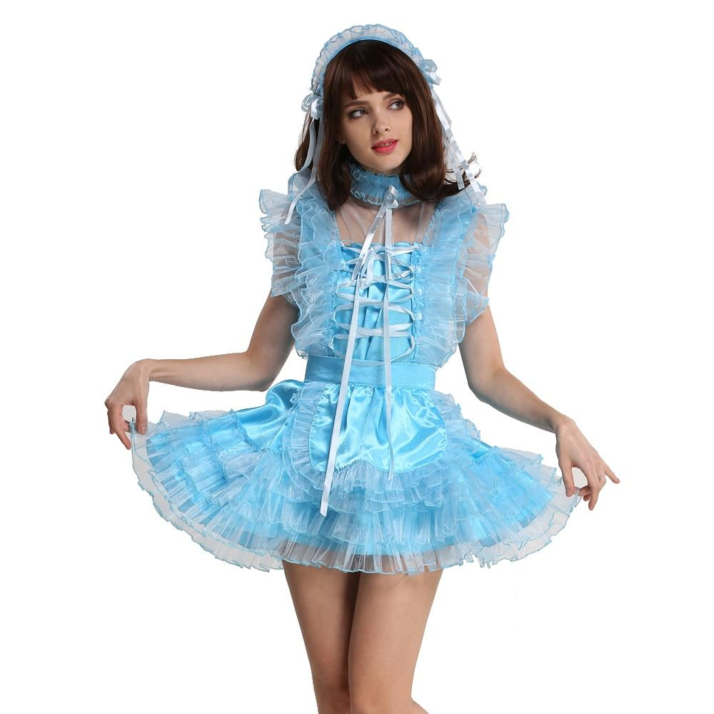 Lockable Sissy Maid Organza Puffy Dress
