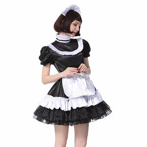 Sissy Maid Lockable Satin Dress Sissy Panty Shop