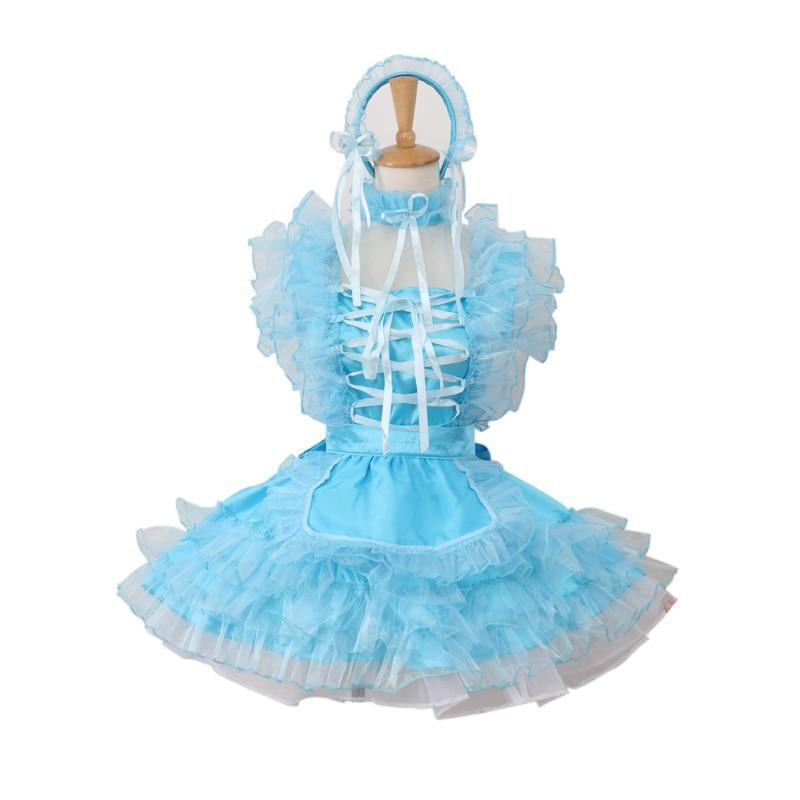 Lockable Organza Sissy Maid Dress Sissy Panty Shop