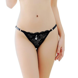 Tanga Briefs w/ Adjustable Straps Sissy Panty Shop Black One Size