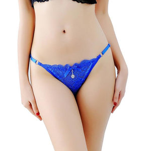 Tanga Briefs w/ Adjustable Straps Sissy Panty Shop Blue One Size