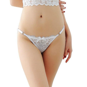 Tanga Briefs w/ Adjustable Straps Sissy Panty Shop White One Size