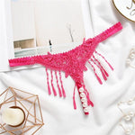 """Sissy Katie"" Tassel & Pearls Thong Sissy Panty Shop Rose red One Size"