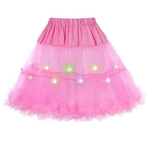 2 Layered Sissy Petticoat with Lights Sissy Panty Shop Rose One Size