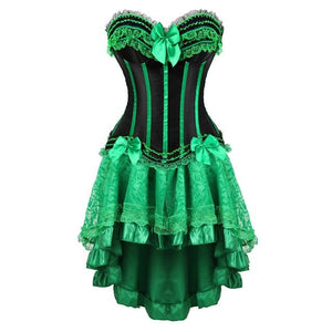 Green Corset Dress Sissy Panty Shop dress S