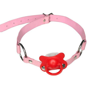 DDLG/ ABDL Choker Gag Pacifier Sissy Panty Shop red 2cm x 66cm
