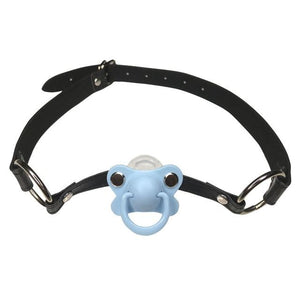 DDLG/ ABDL Adult Baby Pacifier Gag Sissy Panty Shop blue 2cm x 66cm