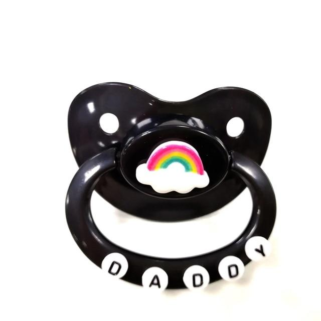 Adult Baby Pacifier ABDL Sissy Panty Shop black