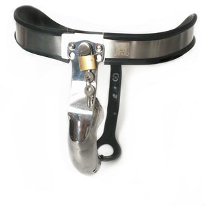 Stainless Steel Chastity Belt w/ Anal plug Sissy Panty Shop