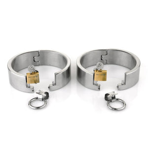 Stainless Steel Lockable Bondage Handcuffs Sissy Panty Shop