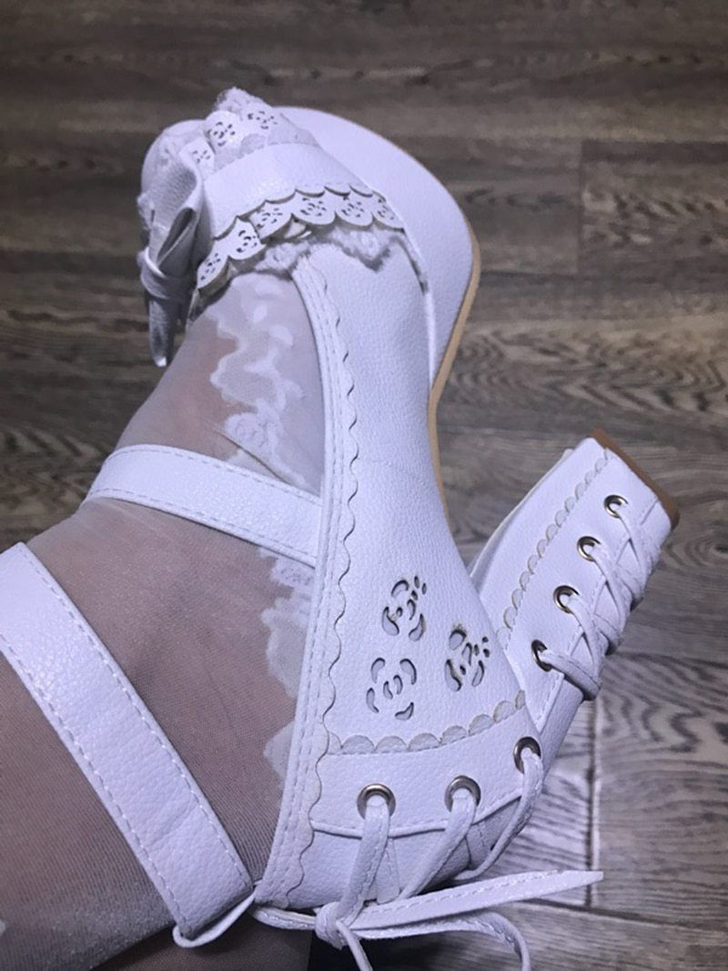 Bow Lace Lux Sissy Pumps