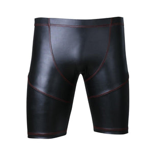 Faux Leather Tight Shorts Sissy Panty Shop