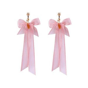Pink Bow Clip On Earrings Sissy Panty Shop