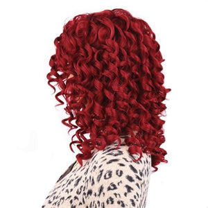 """Sissy Iris"" Curly Wig Sissy Panty Shop Red 12 inches"
