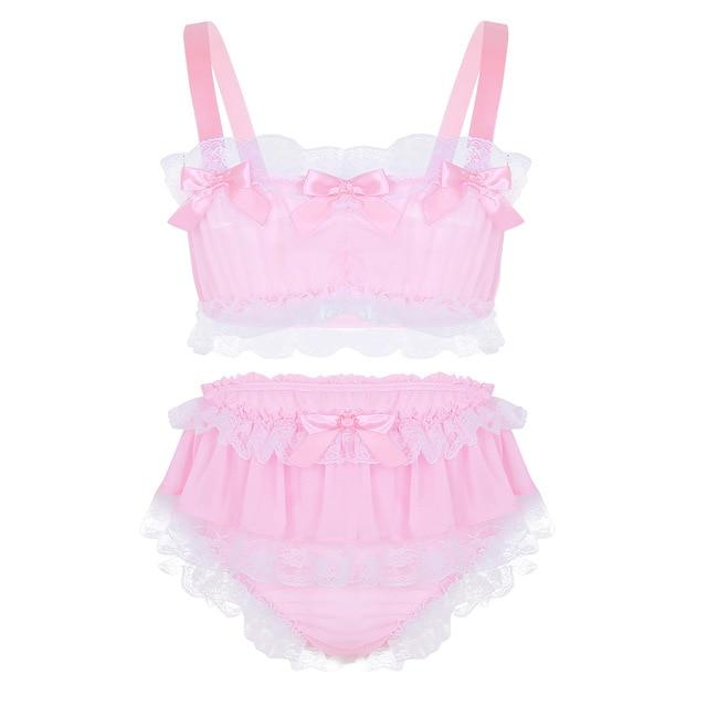 """Sissy Monica"" Lingerie Set Sissy Panty Shop Pink M"