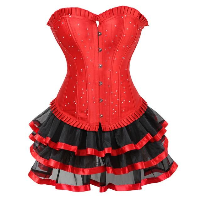 Dreamy Sissy Corset Dress Sissy Panty Shop red S