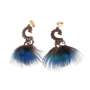 Feather Clip On Earrings Sissy Panty Shop