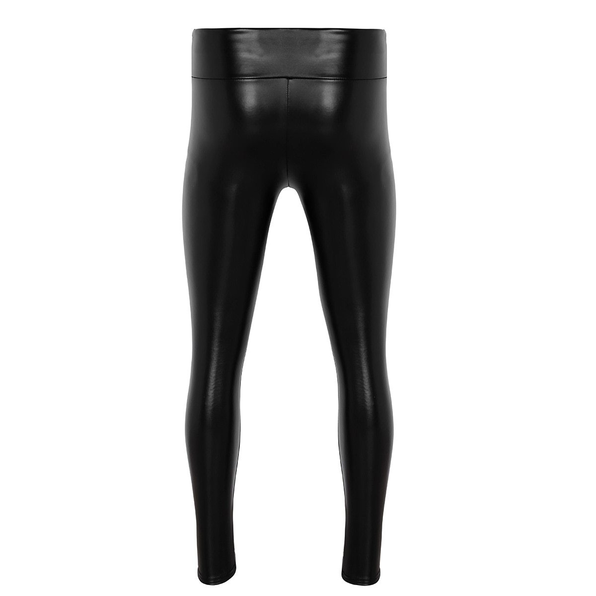 Faux Leather Bulge Pouch Legging Pants