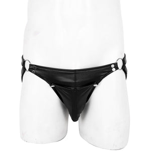 Faux Leather Open Butt Bikini Sissy Panty Shop