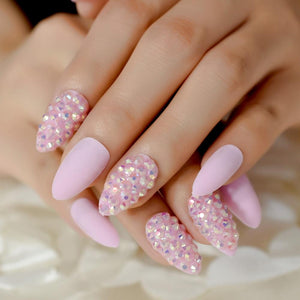 Pink Glitter Stiletto Faux Nails Sissy Panty Shop