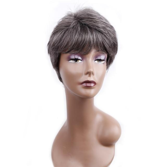 """Tranny Quinn"" Wig Sissy Panty Shop T1B/Light Grey 12 inches"