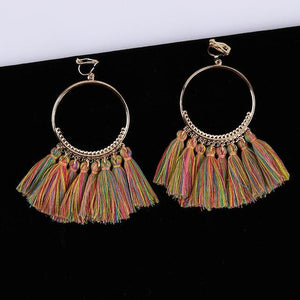 Bohemian Tassel Clip On Earrings Sissy Panty Shop mix 1