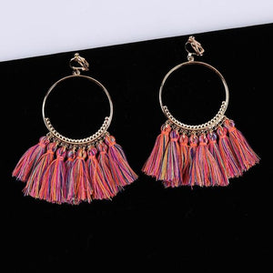Bohemian Tassel Clip On Earrings Sissy Panty Shop mix 2