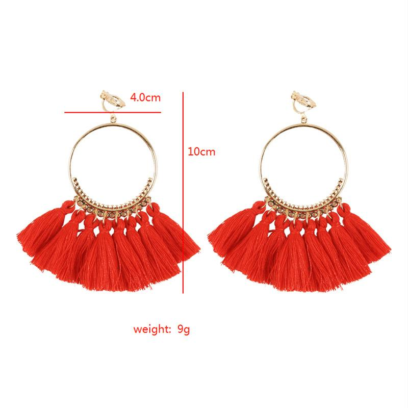 Bohemian Tassel Clip On Earrings Sissy Panty Shop