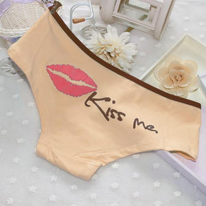 """Sissy Kiss"" Cotton Panties Sissy Panty Shop Beige One Size"