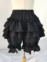 Lolita Ruffled Cotton Bloomers Sissy Panty Shop Black One Size