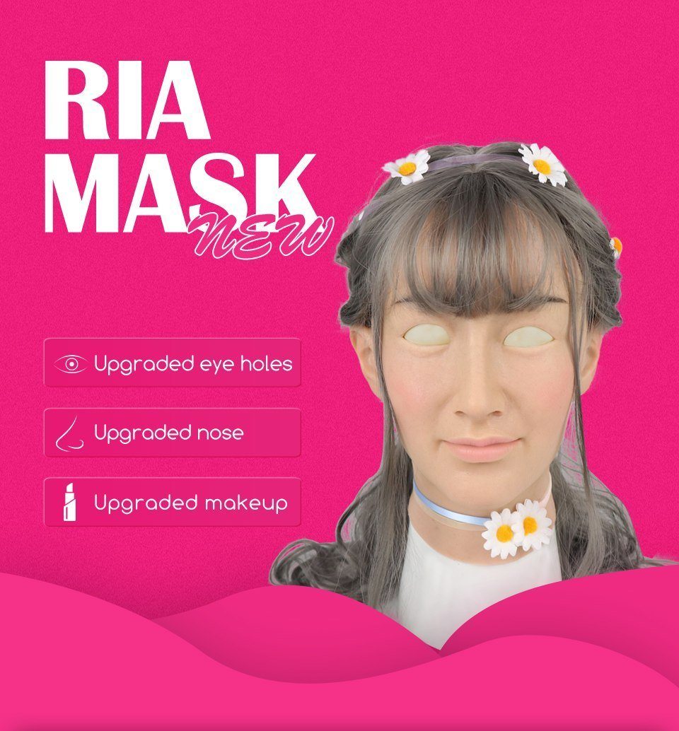 """Shemale Ria"" Crossdressing Mask Sissy Panty Shop"