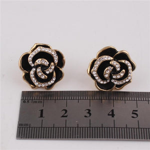 """Sissy Grace"" Flower Clip On Earrings Sissy Panty Shop"