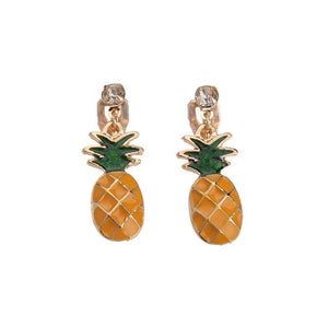 Pineapple Clip on Earrings Sissy Panty Shop Default Title