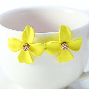 4 Leaf Clover Clip On Earrings Sissy Panty Shop Yellow