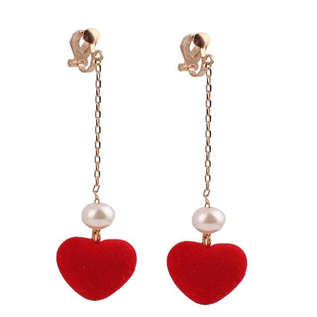 """Tranny Christine"" Heart Clip On Earrings"