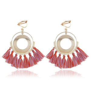 Boho Tassel Clip On Earrings Sissy Panty Shop light mix