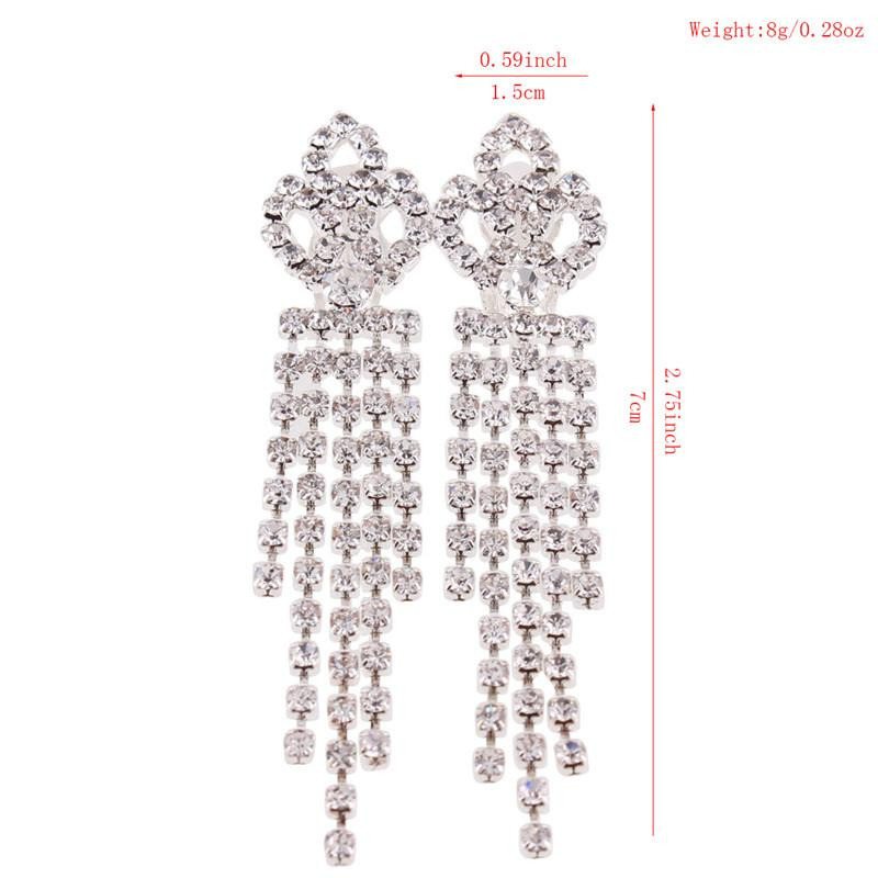 """Sissy Colleen"" Lux Crystal Clip On Earrings"